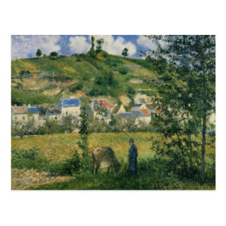 Landscape at Chaponval, 1880 Postcard