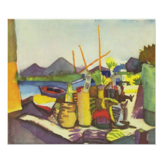 Landscape at Hammamet by August Macke Poster
