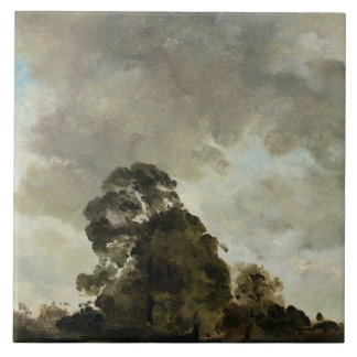 Landscape at Hampstead, Tree and Storm Clouds, c.1 Ceramic Tile