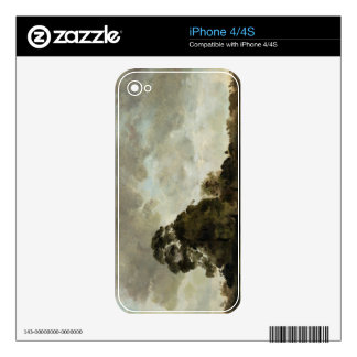 Landscape at Hampstead, Tree and Storm Clouds, c.1 iPhone 4S Decal