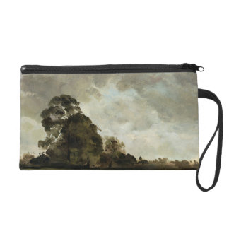 Landscape at Hampstead, Tree and Storm Clouds, c.1 Wristlet Purse
