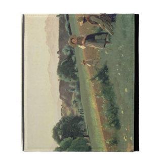 Landscape at Mornex, Haute-Savoie (oil on canvas) iPad Case