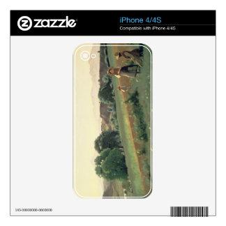 Landscape at Mornex, Haute-Savoie (oil on canvas) iPhone 4 Skin