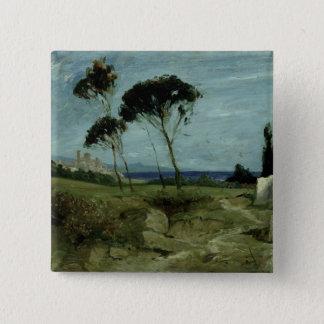 Landscape at Nettuno, 1887 Pinback Button