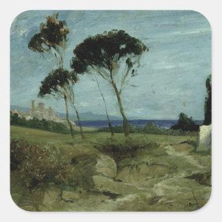 Landscape at Nettuno, 1887 Square Sticker