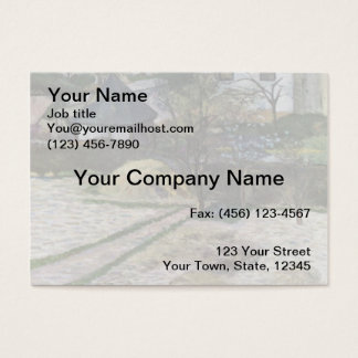 Landscape at Osny - 1881 Business Card