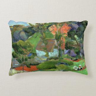 Landscape at Pont Aven, 1888 Decorative Pillow