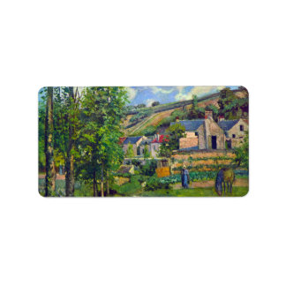 Landscape at Pontoise by Camille Pissarro Address Label