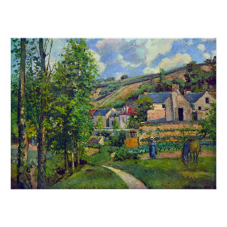 Landscape at Pontoise by Camille Pissarro Poster