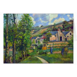 Landscape at Pontoise by Camille Pissarro Stationery Note Card