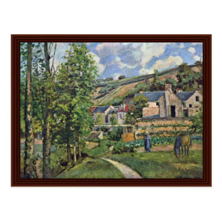 Landscape At Pontoise By Pissarro Camille Postcard
