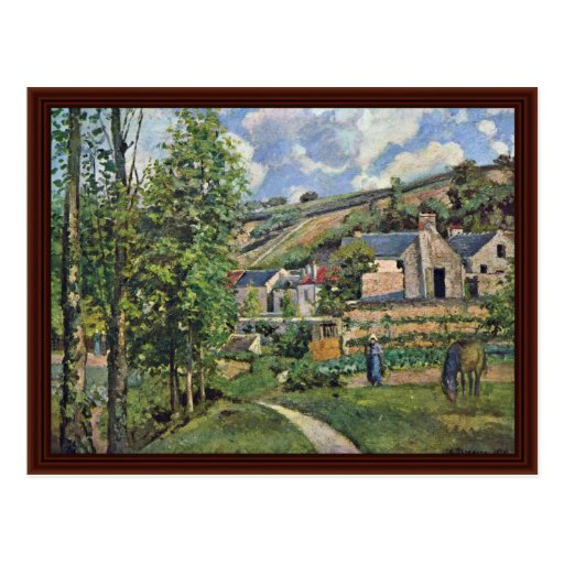 Landscape At Pontoise By Pissarro Camille Post Card