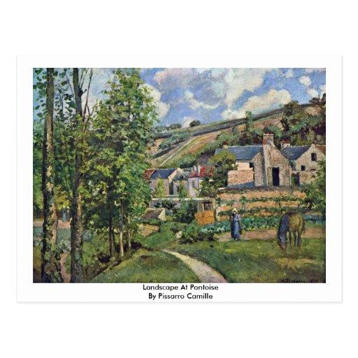 Landscape At Pontoise By Pissarro Camille Postcards