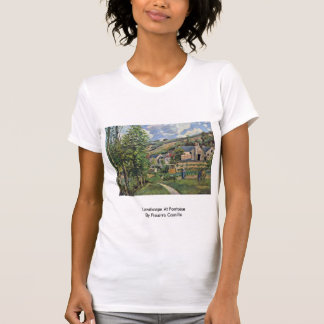 Landscape At Pontoise By Pissarro Camille Tee Shirt