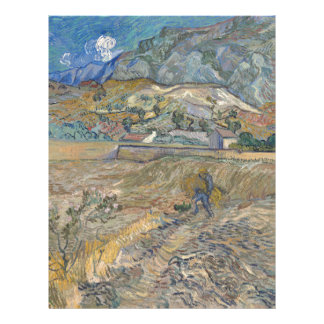 Landscape at Saint-Rémy ; Vincent Van Gogh Letterhead