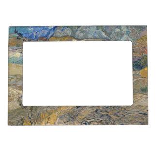 Landscape at Saint-Rémy ; Vincent Van Gogh Magnetic Photo Frame