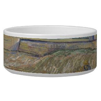Landscape at Saint-Rémy ; Vincent Van Gogh Pet Food Bowl