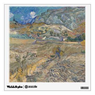 Landscape at Saint-Rémy ; Vincent Van Gogh Wall Sticker