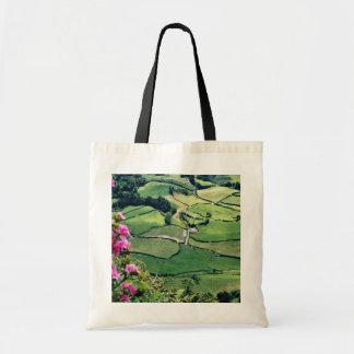 Landscape at Sao Miguel Acores Islands flowers Bag