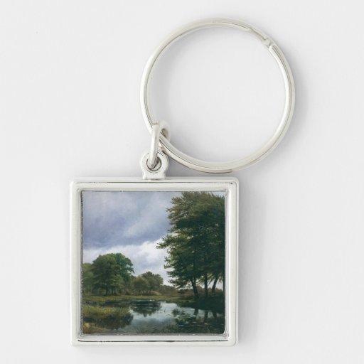 Landscape at Silkeborg, 1833 Keychains
