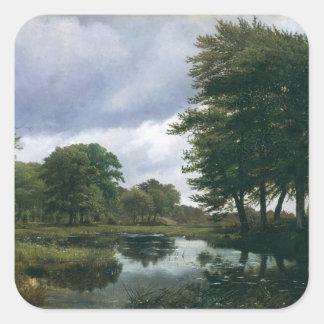 Landscape at Silkeborg, 1833 Square Sticker