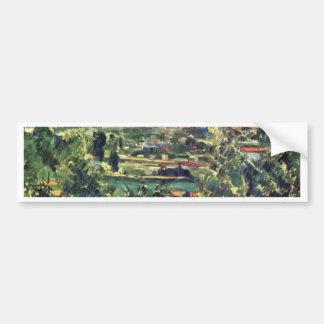 Landscape At The Jas De Bouffan By Paul Cézanne Car Bumper Sticker