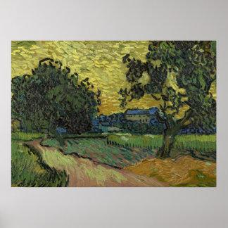 Landscape at twilight poster