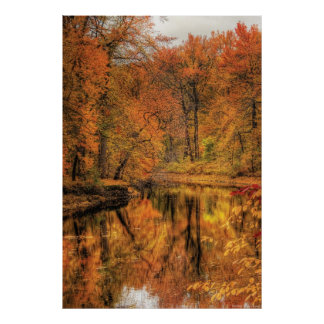 Landscape - Autumn in New Jersey Posters
