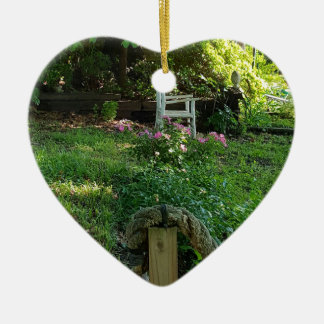 landscape Beauty of Nature Among the ivy Ceramic Ornament