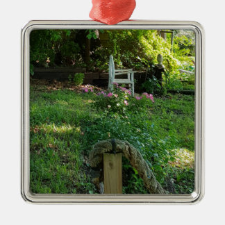 landscape Beauty of Nature Among the ivy Metal Ornament