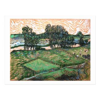 Landscape, Bridge across Oise, Vincent van Gogh Postcard