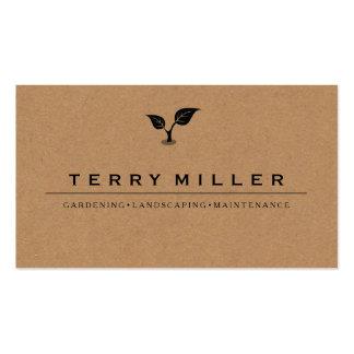 landscape business card / gardener business cards