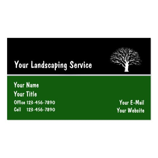 Landscape Business Cards_5 Business Cards