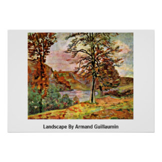 Landscape By Armand Guillaumin Poster