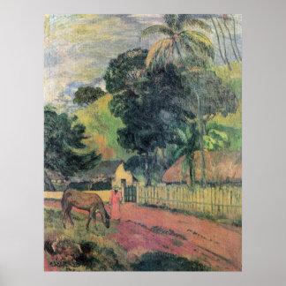 Landscape by Eugène Henri Paul Gauguin Poster