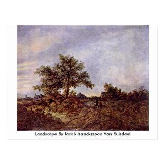 Landscape By Jacob Isaackszoon Van Ruisdael Postcard