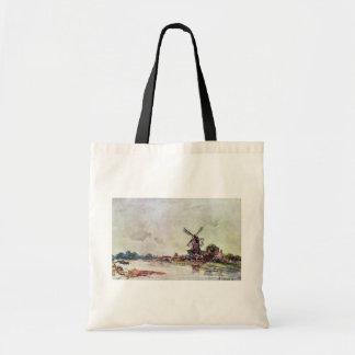 Landscape By Jongkind Johan Barthold (Best Quality Canvas Bags