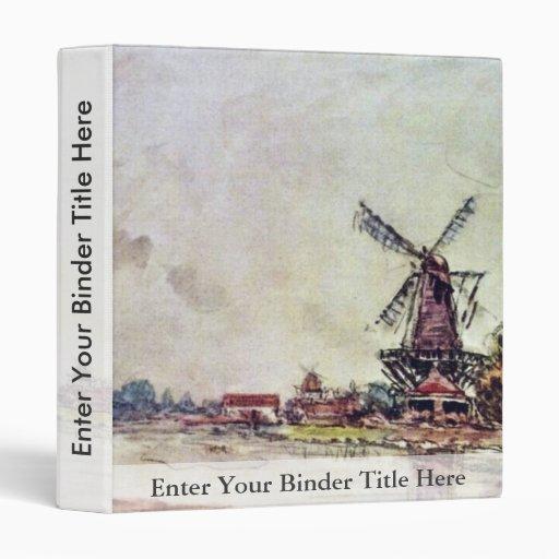 Landscape By Jongkind Johan Barthold (Best Quality Vinyl Binders