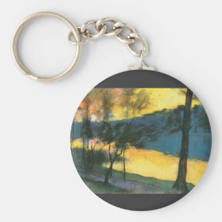 Landscape by Lesser Ury Keychains