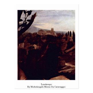 Landscape By Michelangelo Merisi Da Caravaggio Postcard