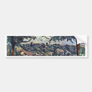 Landscape By Paul Cézanne (Best Quality) Car Bumper Sticker