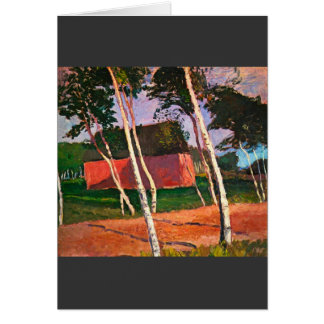 Landscape by Paula Modersohn-Becker Greeting Card