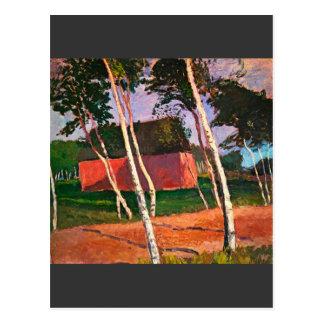 Landscape by Paula Modersohn-Becker Postcard