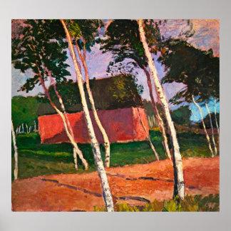 Landscape by Paula Modersohn-Becker Poster