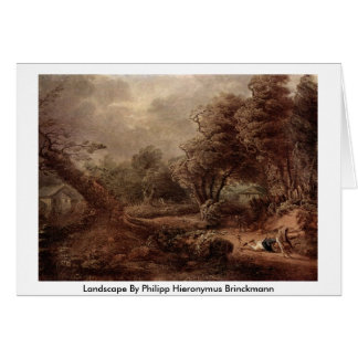 Landscape By Philipp Hieronymus Brinckmann Greeting Card