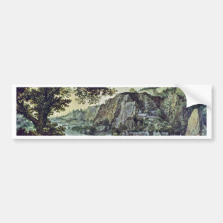 Landscape By Valckenborch Lucas Van (Best Quality) Bumper Sticker