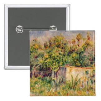 Landscape; Cabin in a Clearing in a Wood, 1915 (oi 2 Inch Square Button
