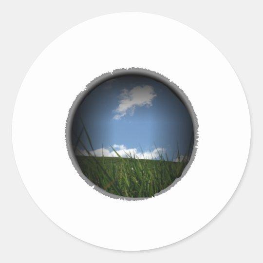 Landscape Classic Round Sticker