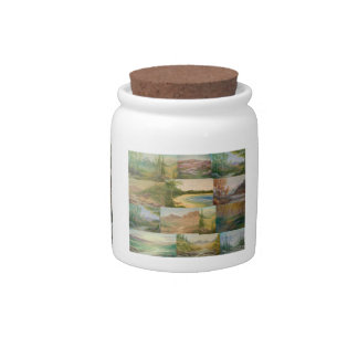 Landscape Collage Candy Jar