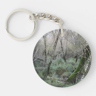 Landscape cork oaks and nature in Doñana, Spain Keychain